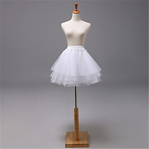 cheap Historical & Vintage Costumes-Wedding / Event / Party Slips Tulle Knee-Length Wedding / Without Ring with Split Joint