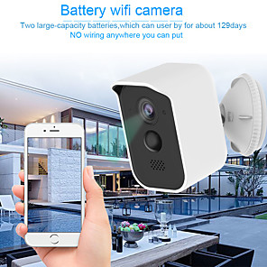 cheap Outdoor IP Network Cameras-Wireless Security Camera Outdoor Indoor  Rechargeable Battery Powered WiFi Camera IP65 Waterproof Night Vision1080P Home Security Camera with Motion Sensor Two-Way Audio Support TF Card/Cloud Storage