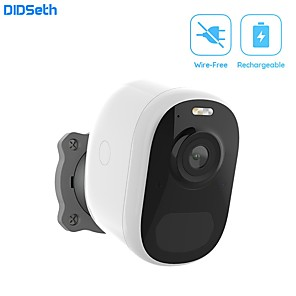 cheap Outdoor IP Network Cameras-DIDSeth Wireless Home Security Wifi IP Camera 1080P Battery Powered Rechargeable Pir Alarm Audio Low Power Surveillance Camera