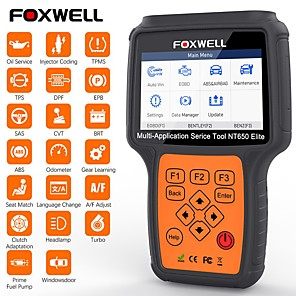 cheap OBD-FOXWELL NT650 Elite Car OBD2 Scanner Automotive OBD II ABS Airbag Code Reader with SAS EPB DPF EPS CVT TPMS TPS Battery Registeration Oil Light Reset Auto Special Service Diagnostic Scan Tool