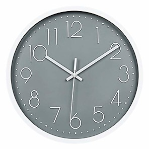 cheap Clock Parts-ticking wall clock, silent battery operated wall clock with abs frame hd glass cover for kids living room bedroom kitchen school office decor