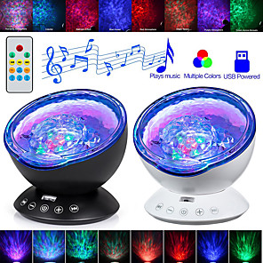 cheap Projectors-LITBest AS124E3 Coquimbo Ocean Wave Projector LED Night Light Built In Music Player Remote Control 7 Light Cosmos Star Luminaria For kid Bedroom