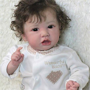 cheap Reborn Doll-22 inch Reborn Doll Baby & Toddler Toy Baby Girl Reborn Baby Doll Saskia lifelike Hand Made Simulation Hand Applied Eyelashes Floppy Head Cloth Silicone Vinyl with Clothes and Accessories for Girls