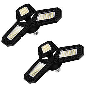 cheap iPad case-2pcs LED Garage Light 360 Degrees Deformable Ceiling Light For Home Warehouse Workshop Folding Three-Leaf Deformation Lamp AC85-265V