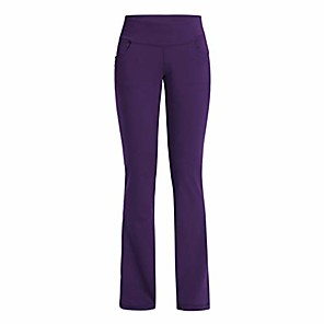 cheap Exercise, Fitness & Yoga Clothing-yoga pants with pockets for women high waist workout bootleg pants tummy control, jogging bottoms for women purple