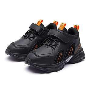 cheap Women's Sandals-Boys' Trainers / Athletic Shoes Comfort PU Lace up Little Kids(4-7ys) / Big Kids(7years +) Walking Shoes Black / Pink / Gray Fall / Winter
