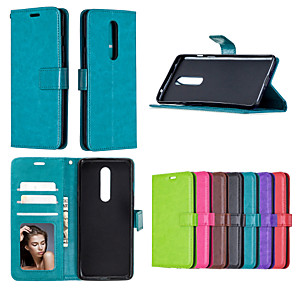 cheap Other Phone Case-Case For Nokia  2.1 3.1 plus 4.2 3.2 6.2 7.2 2.2 2.3 1.3 5.3 650 550 3 5 6 8 9 pure 5.1plus 7.1 Card Holder Shockproof  Flip Full Body Cases Solid Colored PU Leather TPU