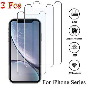 cheap Cell Phones-3PCS Protective glass on iphone 6 7 5 SE 2020 8 plus XS max XR screen protector Tempered glass For iphone 11 Pro Max glass