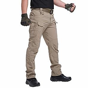 ieftine Pantaloni de Drumeții Lungi & Scurți-Pantaloni pentru bărbați hidrofug ripstop tactical cargo pantaloni ușori de luptă cu uscare rapidă pentru drumeții kaki de vară