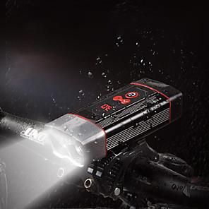 povoljno Baterijske svjetiljke-LED Svjetla za bicikle Prednje svjetlo za bicikl LED Bicikl Biciklizam Okretljive slavine Super Bright Izlaz za punjenje putem USB-a Quick Release 18650 2400 lm punjiva baterija Ugrađeni napajanja