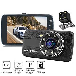 billige Bil-DVR-4,0 tommer 1080p HD Dash Cam DVR-kameraopptaker med G-sensor 170 graders vidvinkel Auto Dashcam Night Vision videokamera