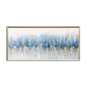 preiswerte Ölgemälde-Hang-Ölgemälde Handgemalte - Abstrakt Landschaft Zeitgenössisch Modern Ohne Innenrahmen (ohne Rahmen)