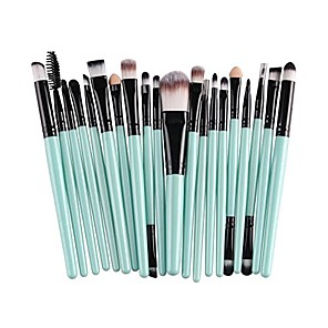 cheap Makeup Brush Sets-20 pcs pro makeup brushes set powder foundation eyeshadow eyeliner lip cosmetic clearance brush & #40;green black& #41;