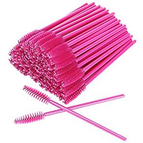 cheap Facial Care Devices-akstore 100 pcs disposable eyelash brushes mascara wands eye lash eyebrow applicator cosmetic makeup brush tool kits (rose)