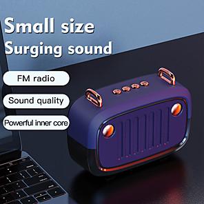 billiga Portable Högtalare-cool bärbar bluetooth v5.0 högtalare lång arbetstid utomhus högtalarstöd tf-kort / u disk / fm radio trådlös kolumn