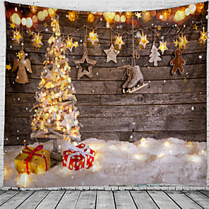 cheap Wall Tapestries-Christmas Santa Claus Holiday Party Wall Tapestry Art Decor Blanket Curtain Picnic Tablecloth Hanging Home Bedroom Living Room Dorm Decoration Christmas Tree Snow Gift Snow Polyester