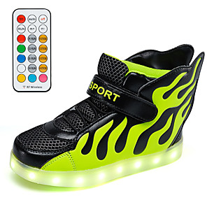 cheap Women's Flats-Boys' / Girls' Sneakers LED Shoes / USB Charging PU Little Kids(4-7ys) / Big Kids(7years +) Walking Shoes LED White / Red / Green Spring / Fall