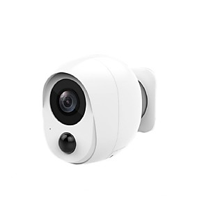 cheap Outdoor IP Network Cameras-Night Vision Cloud Storage/SD Slot Wireless Rechargeable Battery Powered WiFi Camera Outdoor Security Camera with 2-Way Audio 1080P Home Surveillance Camera with Motion Detection