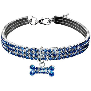 cheap Dog Collars, Harnesses & Leashes-Dog Collar Necklace Adjustable Size Decoration Heart Alloy Pink Blue