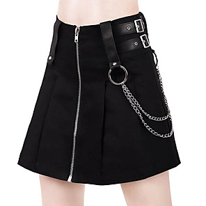 cheap Movie & TV Theme Costumes-Goth Girl Gothic Goth Subculture Summer Party Costume Masquerade Women's Costume Black Vintage Cosplay Club Bar / Skirts