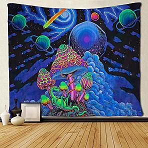 cheap Wall Tapestries-Psychedelic Abstract Wall Tapestry Art Decor Blanket Curtain Picnic Tablecloth Hanging Home Bedroom Living Room Dorm Decoration Polyester Arabesque Mushroom Trippy Mountain Galaxy Forest