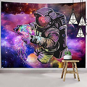 cheap Wall Tapestries-trippy astronaut tapestry wall hanging fantasy galaxy tapestry hippie wall art colorful space wall tapestry home decor
