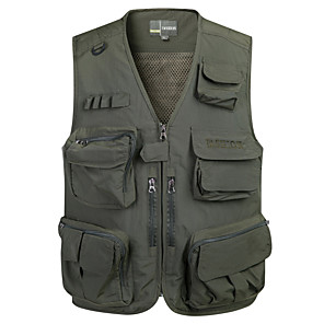 cheap Softshell, Fleece & Hiking Jackets-Men's Fishing Vest Vest / Gilet Breathable Fast Dry Wearable Hunting and Fishing