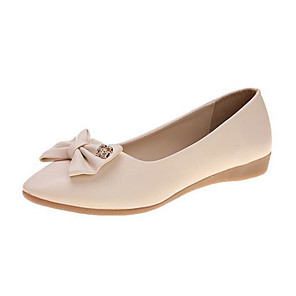 cheap Hair Jewelry-leatherette glitter capped toe bow ballerina flat & #40;little girl/big girl& #41; ei45 - white & #40;size: little kid 11& #41;