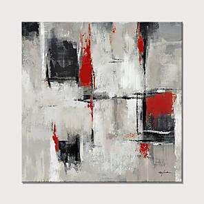 olcso Olajfestmények-Hang festett olajfestmény Kézzel festett - Absztrakt Modern Anélkül, belső keret