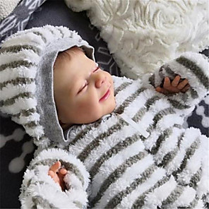 cheap Reborn Doll-20 inch Reborn Doll Baby & Toddler Toy Baby Boy Reborn Baby Doll April Newborn lifelike Hand Made Simulation Cloth Silicone Vinyl with Clothes and Accessories for Girls' Birthday and Festival Gifts