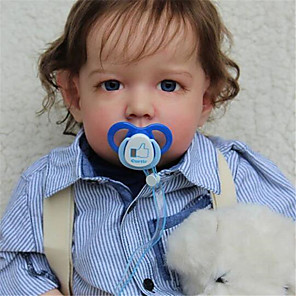 cheap Reborn Doll-20 inch Reborn Doll Baby & Toddler Toy Baby Boy Reborn Baby Doll Liam Newborn lifelike Hand Made Simulation Floppy Head Cloth Silicone Vinyl with Clothes and Accessories for Girls' Birthday and