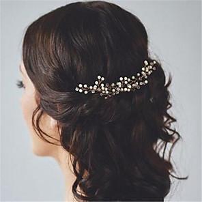 cheap Party Sashes-Crystal / Imitation Pearl / Alloy Hair Pin with Crystal / Imitation Pearl 2pcs Wedding Headpiece