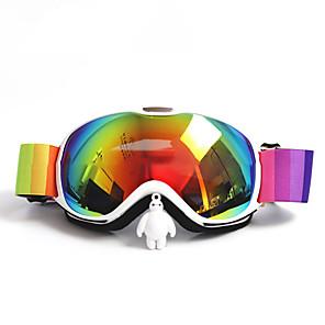 זול נעלי ריקודים ונעלי ריקוד מודרניות-BASTO משקפות סקי ל מבוגרים ספורט חורף עמיד במים מידה מתכווננת