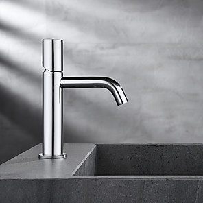 cheap Classical-Bathroom Sink Faucet - Hot and Cold Water Single Lever Deck Mounted Wash Room Vessel Vanity Sink Mixer Tap B&B Hotel Bathroom Centerest Basin Faucet