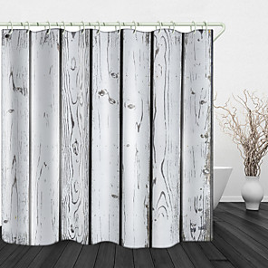 cheap Shower Curtains-Paint Wood Beautiful Back Print Waterproof Fabric Shower Curtain for Bathroom Home Decor Covered Bathtub Curtains Liner Includes with Hooks