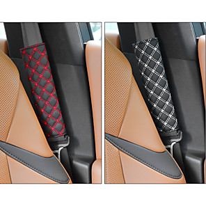 cheap Steering Wheel Covers-DeRanFu Niversal Car Seat Belt Pads CoverSeat Belt Shoulder Strap Covers Harness Pad For Car/BagSoft Comfort Helps Protect You Neck And Shoulder From The Seat belt Rubbing(2-Pack)