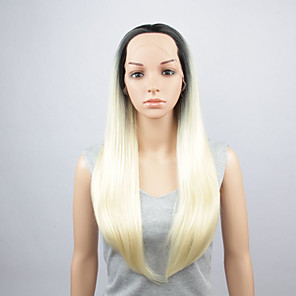 cheap Tattoo Stickers-Synthetic Wig Straight Middle Part Wig Very Long Blonde Synthetic Hair 28 inch Women's Ombre Hair Middle Part Exquisite Blonde