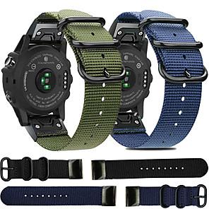 cheap Smartwatch Bands-Quick Release Nylon Watch Band for Garmin Fenix 6X Pro / Fenix 6 Pro / Fenix 5 Plus / Fenix 5X Plus / Fenix 3 HR / Forerunner 935 / 945 / D2 / Approach S60 Replaceable Bracelet Wrist Strap Wristband