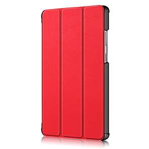 cheap Samsung Case-Case For Lenovo Lenovo Yoga Smart Tab YT-X705F Shockproof Flip Full Body Cases Solid Colored PU Leather PC