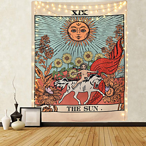 cheap Wall Tapestries-Tarot Divination Wall Tapestry Art Decor Blanket Curtain Picnic Tablecloth Hanging Home Bedroom Living Room Dorm Decoration Mysterious Bohemian Moon Sun Star