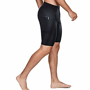 cheap Wetsuits, Diving Suits & Rash Guard Shirts-neoprene wetsuit shorts 2mm premium sweat fitness pants with pocket for snorkeling surfing swimming training(black,2xl