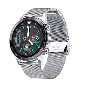 cheap Smartwatches-L16 Hybrid-face Smartwatch for IOS/Samsung/Android Phones, IP68 Water-resistant Bluetooth Fitness Tracker Support ECG