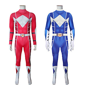 cheap Movie & TV Theme Costumes-Inspired by Power Rangers Mighty morphin Anime Cosplay Costumes Japanese Cosplay Suits Zentai For Men's Women's