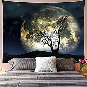 cheap Wall Tapestries-moon tapestry galaxy tapestry tree tapestry starry sky tapestry mystic psychedelic art tapestry wall hanging for home decor& #40;h59.1×w78.7 inches& #41;