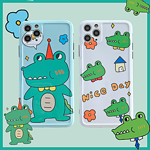 cheap Samsung Case-Cartoon Crocodile  IMD Case For Apple iPhone 11 Pro Max 8 Plus 7 Plus 6 Plus Max Back Cover