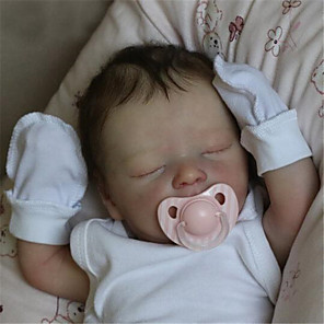 cheap Reborn Doll-17.5 inch Reborn Doll Baby & Toddler Toy Reborn Baby Doll Darren Newborn lifelike Hand Made Simulation Floppy Head Cloth Silicone Vinyl with Clothes and Accessories for Girls' Birthday and Festival