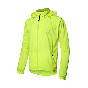cheap Softshell, Fleece & Hiking Jackets-Men's Cycling Jacket Polyester Bike Jacket Top Waterproof Windproof UV Resistant Sports Solid Color Novelty Green Clothing Apparel Bike Wear / Long Sleeve / Breathable / Quick Dry / Breathable
