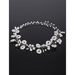 cheap Party Headpieces-Crystal / Imitation Pearl / Alloy Headdress with Crystal / Imitation Pearl 1 Piece Wedding Headpiece