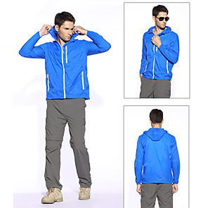 cheap Softshell, Fleece & Hiking Jackets-Men's Jacket Solid Color Sports Outdoor Sapphire Navy Brown S M L / Fall
