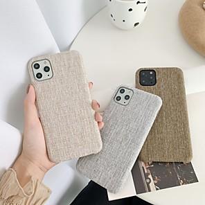 Χαμηλού Κόστους Θήκες iPhone-θήκη για apple iphone 7 8 7plus 8plus x xr xs xsmax se (2020) iphone 11 11pro 11promax shockproof ultra-thin pattern back cover back solid textile textile tpu